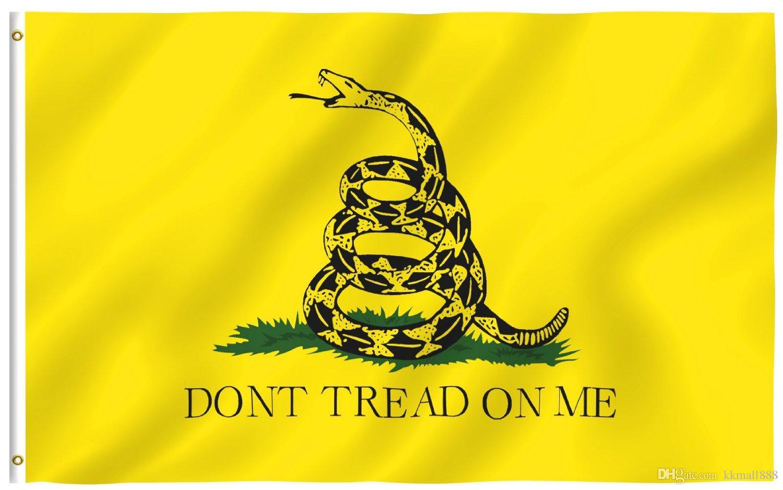 Neue Gelbe Schlange Tea Party Culpeper Treten Sie nicht auf mir Flagge 3x5FT Banner Hausgarten Dekoration Hohe Qualität Schlange Flagge