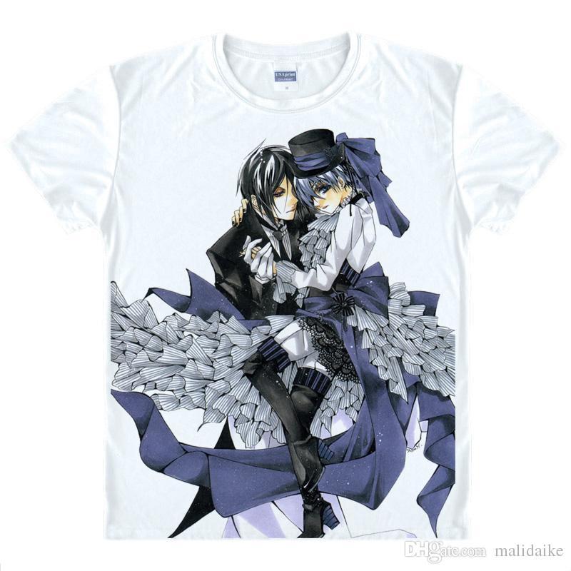 Malidaike 애니메이션 흑 집사는 요새 그리어 번째 원소 애니메이션 의상 반팔 T 셔츠 코스프레 선물을 충전