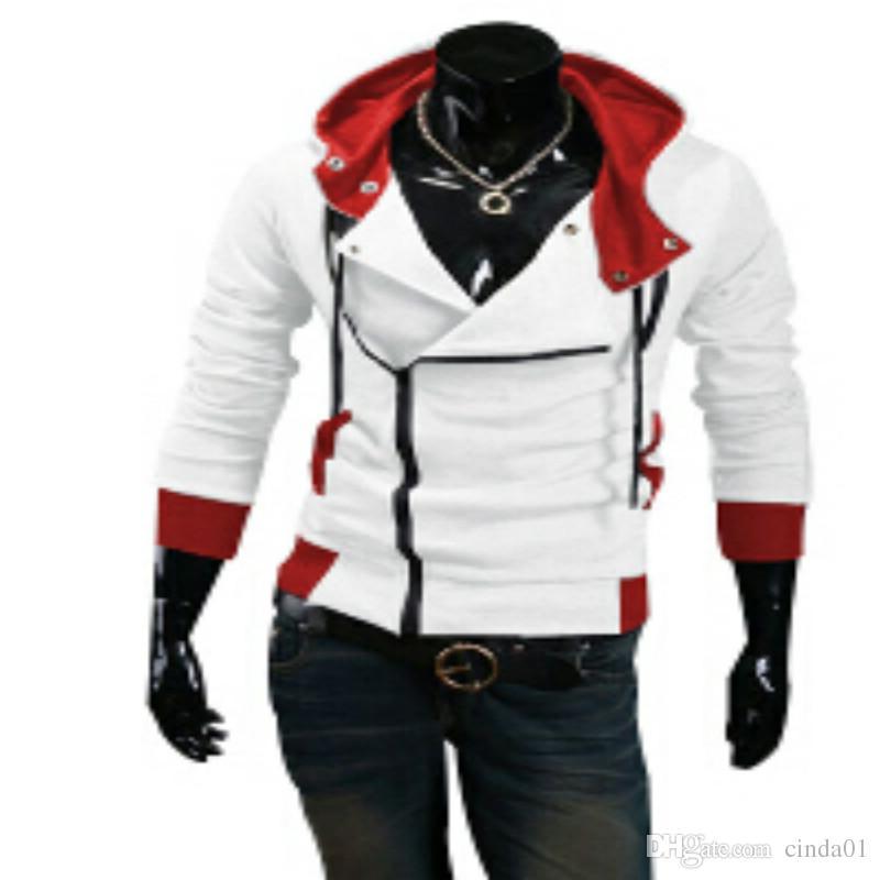 Plus Size New Fashion Stylish Men Assassins Creed 9 Desmond Miles Costume Hoodie Cosplay Coat Jacket