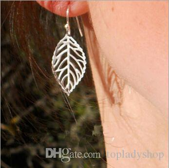 Europe and America trade fashion exquisite simplicity the forest metal leaves earrings hot selling metal leaf earring free shipping
