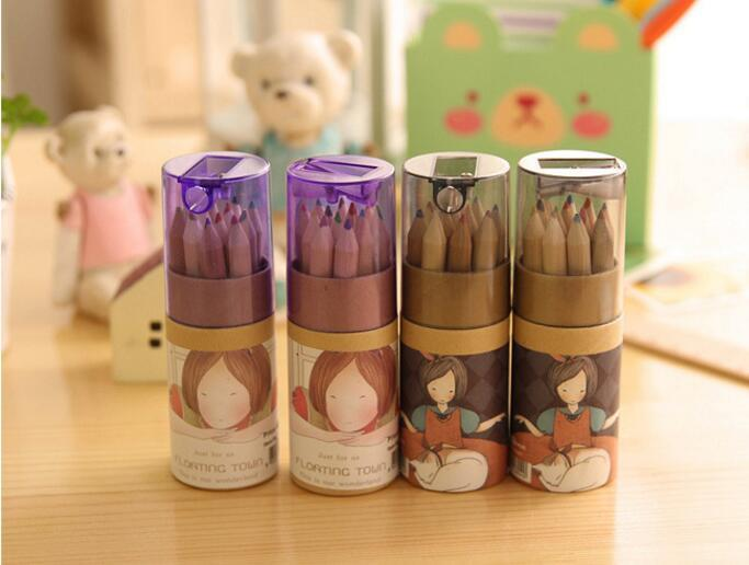 Painting Pencils Secret Garden Coloring Enchanted Forest Painting Pens Colored Pencil Creative Writing Tools Colouring Pencils 12 Colors