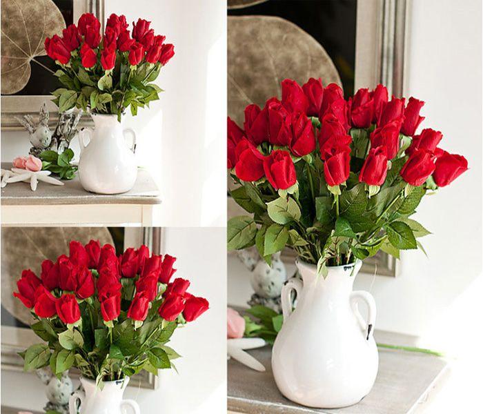 Frete grátis 30pcs MOQ Fresco levantou Artificial Latex Flores real Toque Flores látex para exposição de flores da festa de casamento ou aniversário