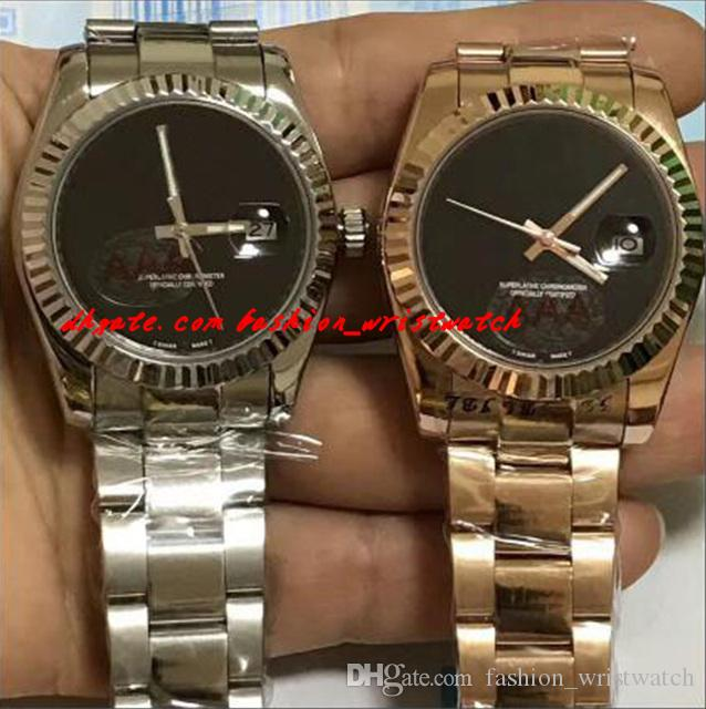 Orologio da polso di lusso Top Quality Mens in acciaio inox 41mm quadrante vuoto automatico orologio meccanico orologio da uomo