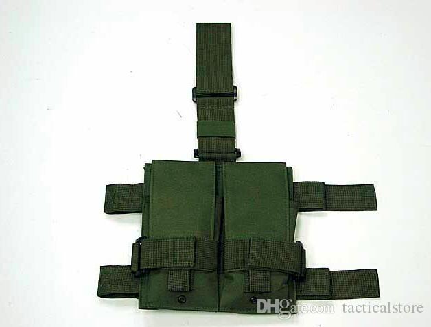 Tactique Molle Double M4 5.56mm Mag Magazine Drop Panel Panneau Pochette Utilitaire Sac Pour ourdoor Jeu Airsoft Paintball chasse