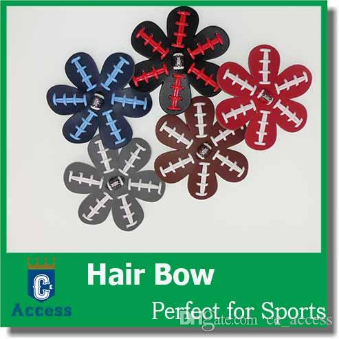 2017 Softball Flower Accessory and hair clip ، أقواس الشعر اللينة ، hairball اللينة ، hairbow البيسبول
