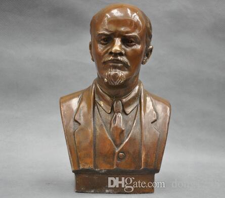7 'Sovyeti Yönetmen Vladimir Ilyich Ulyanov Lenine Buste Bronz heykel