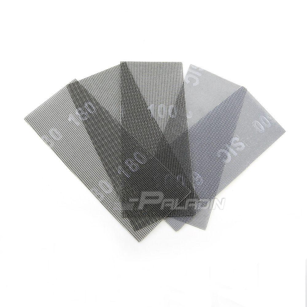 10 pcs Wet and Dry Abrasive Mesh Net Sandpaper 115*280 mm Sanding Screen Carving Stone Tools