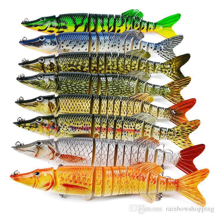 12 sections Segment Saltwater Fishing Big Lure 212g 30cm ABS Plastic Split Tail Hard Bait Bass crankbait