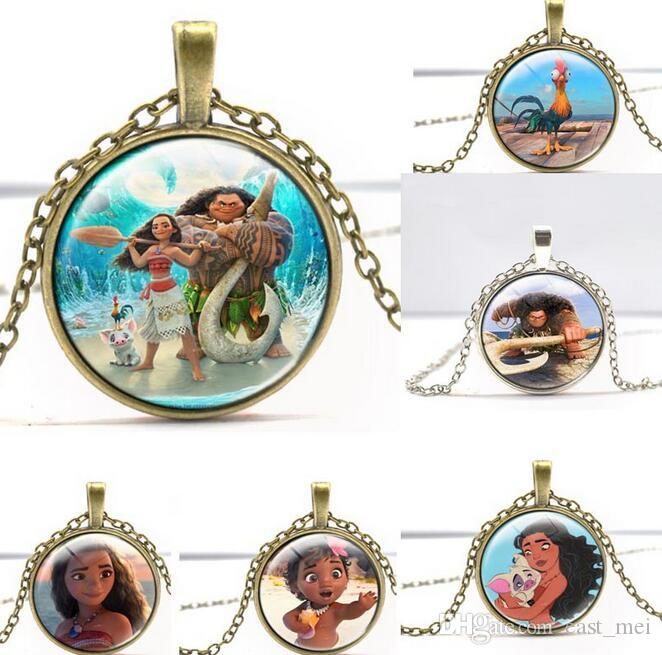 High quality Children Christmas Gifts Anime Ocean Adventure Necklace WFN346 (with chain) mix order 20 pieces a lot