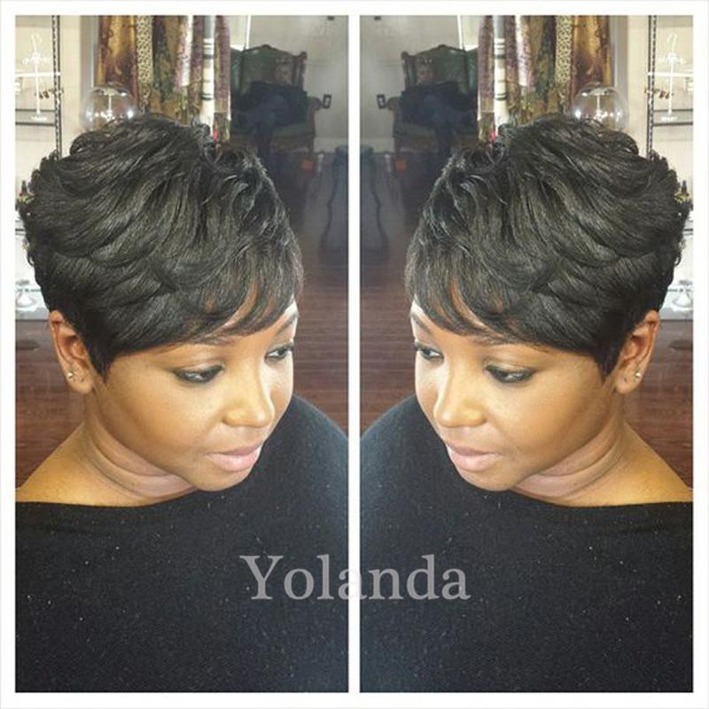 7A Hot Charming short bob cut wigs with baby hair glueless virgin brazilian short full lace human hair wigs bob for black women