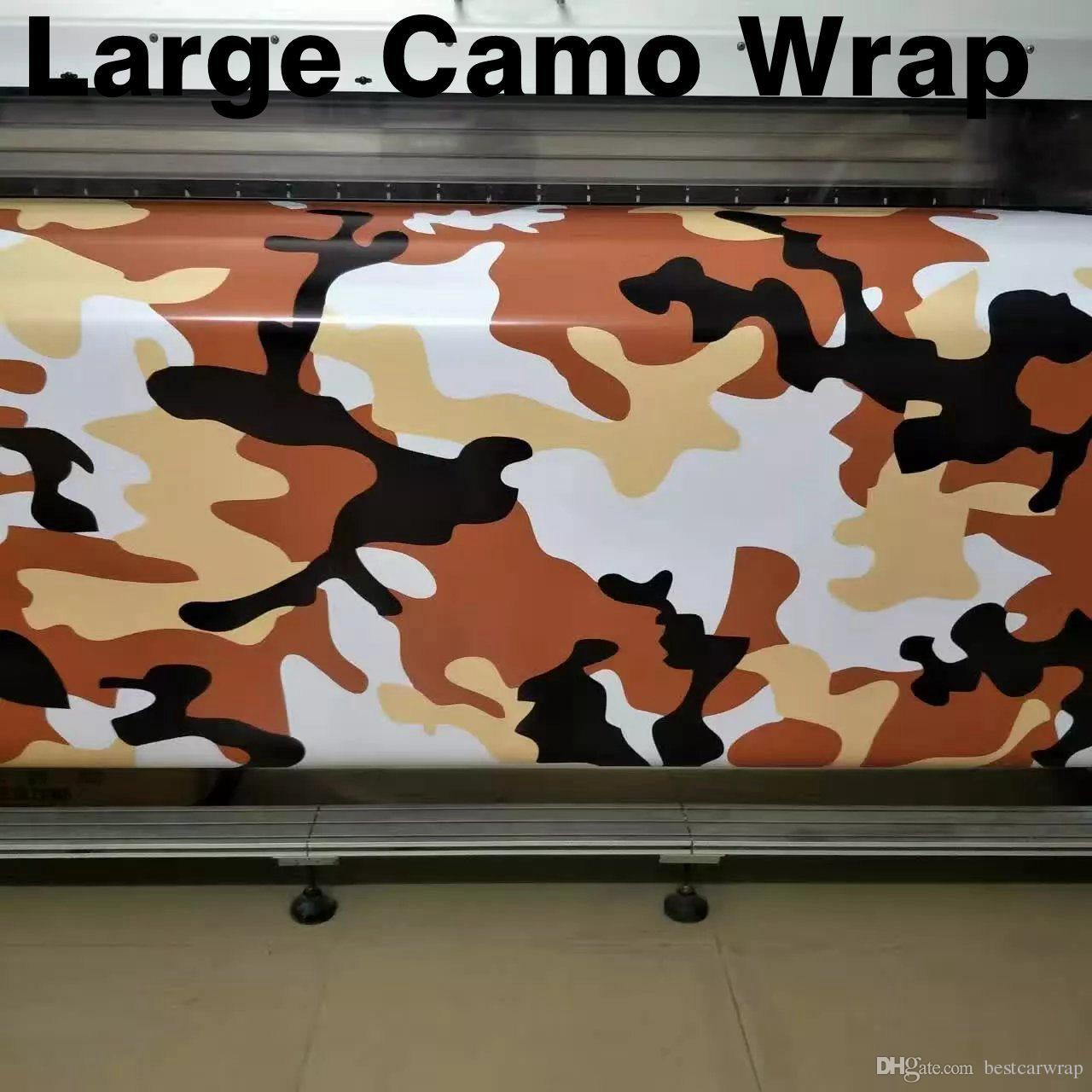 Grand hiver neige Camo VINYL Wrap Full Car Emballage Camouflage Foil Autocollants avec l'air libre taille 1,52 x 30 m / Roll Livraison Gratuite