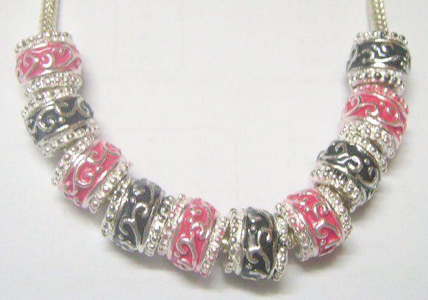 Branelli di cristallo europei placcati argento 10pcs / lot per il regalo C26 dei monili della collana del braccialetto di DIY Trasporto libero