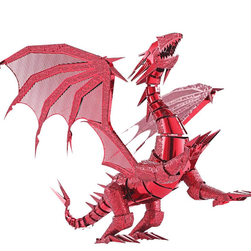 3D Puzzle Dragon Laser Cut Models Jigsaw Toy FLAME Metal Puzzle Scale Model Kit Adult/Kid Educational Toys