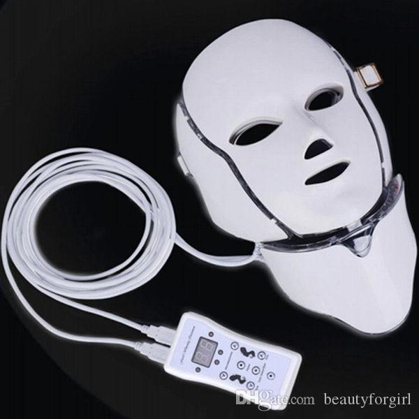 New Coming LED Photon Light Facial Neck Mask Skin Rejuvenation Wrinkle Acne Anti aging PDT With BIO For Acne Removal