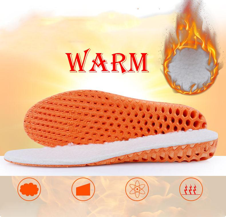 Wholesale Winter Men Women Warm Thicken Comfy Increase High-heeled Shock-absorbing Multifunctional Cashmere Shoes Insoles Sports Shoe Parts