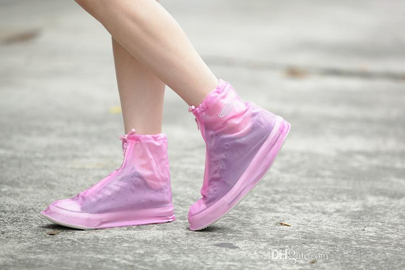 Environmental Reused Waterproof PVC RainShoes outdoor Lady Shoe Cover 6 Colors Dustproof Overshoes For Rain Day Carpet Cleaning