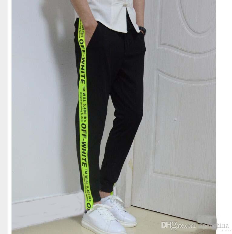 exceptional range of styles and colors lowest price professional design 2019 Off White Sweatpants Men Women Casual Pants Hip Hop Fashion Ribbon  Palace Men Cargo Pants Trousers Jogger Kanye West Sweat Pants From  Apecchina, ...