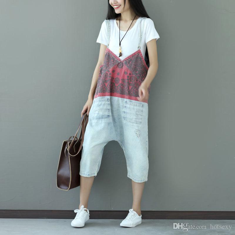Hot Calf-length Pants Denim Overalls Jeans Rompers Womens Jumpsuit 2017 New Autumn  Winter Plus Size Women Rompers Women s Jeans Korean Style c8246acaa4ea