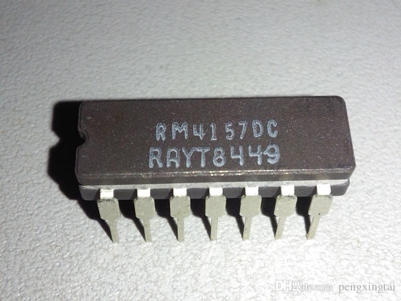 RM4157DC . RM4157 . RC4157DC , QUAD OP-AMP, 5000 uV OFFSET-MAX, 19 MHz BAND WIDTH, dual in-line 14 pin dip ceramic package , RC4157 . CDIP14
