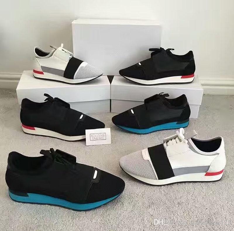 New 2017ss Corrida Runners Perfeito quatily Mens Trainers Lace-Up calçados casuais com caixa original e saco de pó gratuito menshoes Expedição Tamanho 39-46