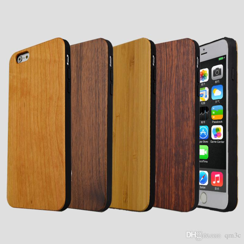 Hot Phone Cases Handmade Wood Case For Iphone 7 8 6 6s Plus X 10 5 5s  Natural Bamboo Wooden TPU Mobile Cover For Samsung Galaxy S8 S9 S7 Cheap  Phone Cases