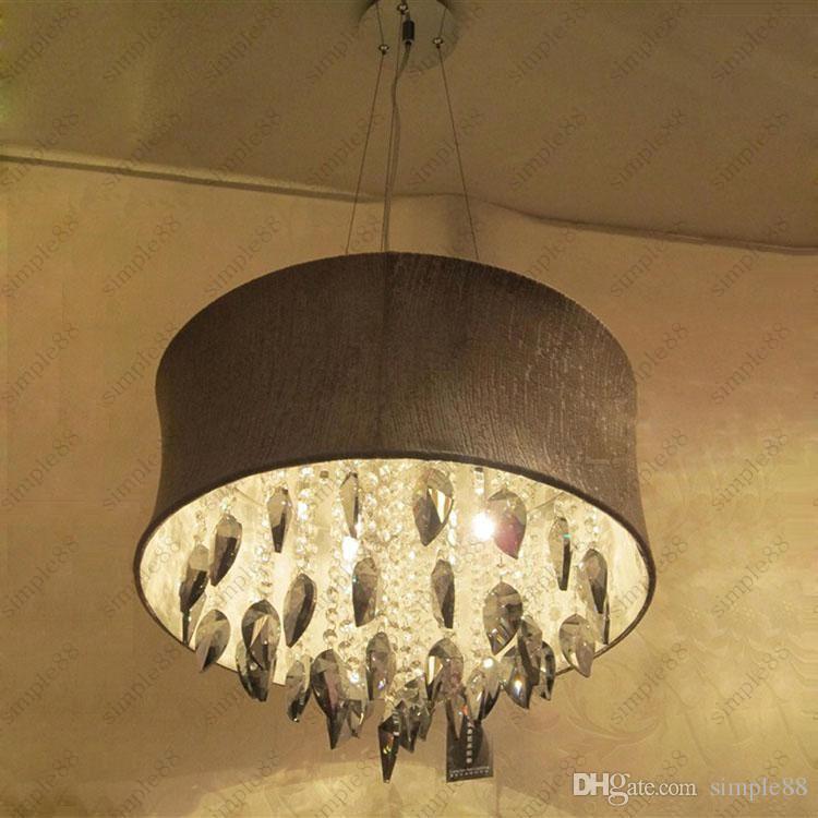 rauch graue kristalltrommel leuchter helle hngende lampen decken befestigung mit hellgrauem - Kronleuchter Licht Mit Trommel