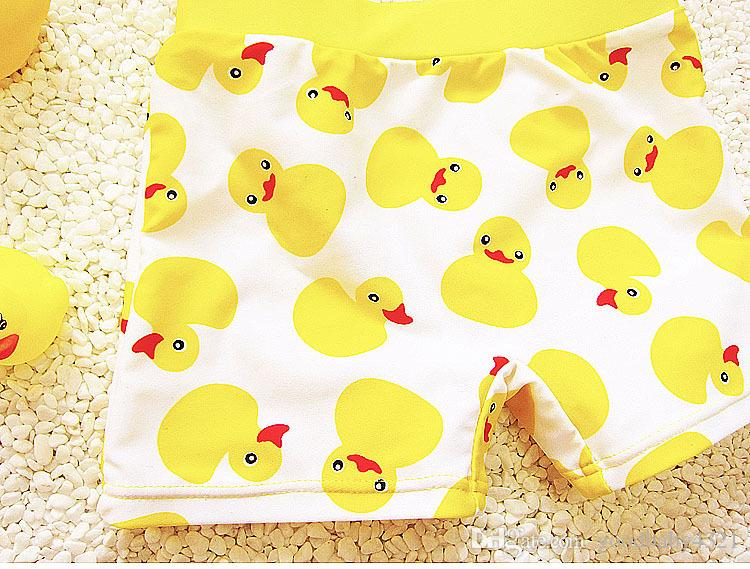 Baby Toddler Boy Swim Trunk Duck Swimming Shorts with Swim Hat