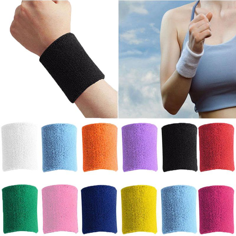 Cotton Terry Cloth Sports Bands for Working Out Tennis Gymnastics Baseball Basketball Football Gym Exercise Acfun Sweatband Wristbands Wrist Sweat Bands for Athletic Men Women