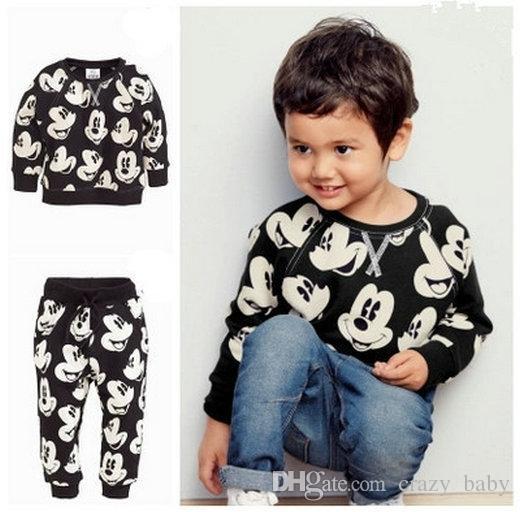 Kinder Kleidung Set Toddle Kinder Langarm Outfits Jungen Baumwolle Tops hoody Sweatshirt T shirt + Pants Jungen Kleidung Anzug