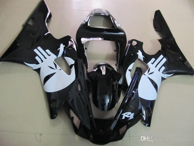 Fairing kit for Yamaha YZF R1 2000 2001 white black motorcycle fairings set YZFR1 00 01 OT02