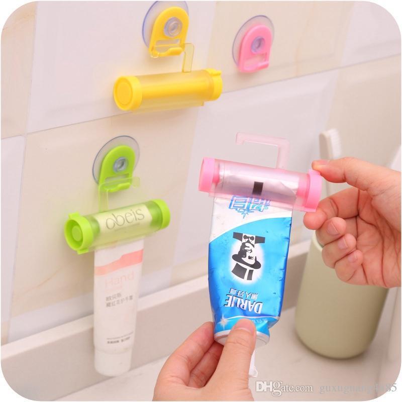 Plastic Toothpaste Tube Squeezer Easy Dispenser Rolling Holders Bathroom Supply