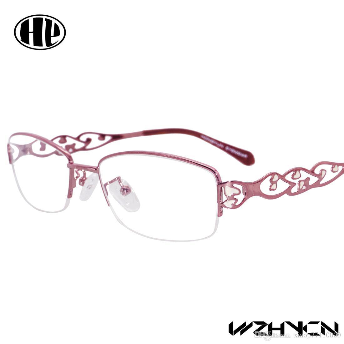 2017 donne occhiali in lega chiara occhiali occhiali personalità in metallo Gafa progettato arte occhiali da vista