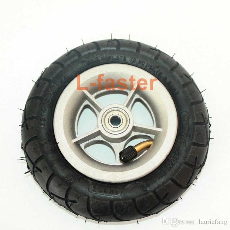 """알루미늄 합금 허브와 150MM 스쿠터 인플레이션 휠 내부 튜브 전기 스쿠터 6 인치 공압 타이어와 6 """"공압 타이어"""