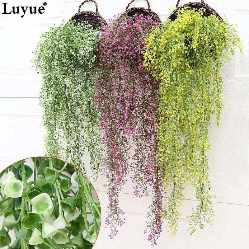 Yapay Garland Yeşil Asma Asılı Çelenk Düğün Ev Bar Dekor üç renk iki uzunluk fotoğraf sahne simülasyon bitki