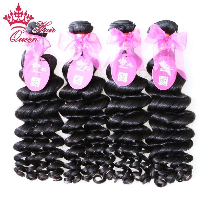 Queen Hair Products Braziliaanse Virgin Haar Weave More Wave 4pcs Lot Natural Color Snelle verzending