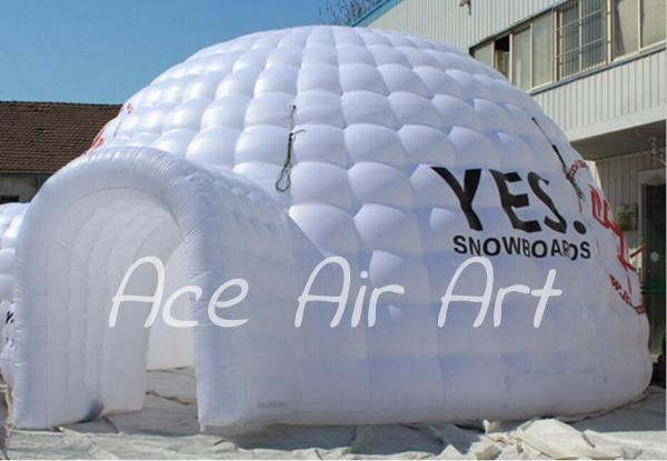 newest design white giant inflatable igloo tent,dome marquee for party or event with logo with one door enter