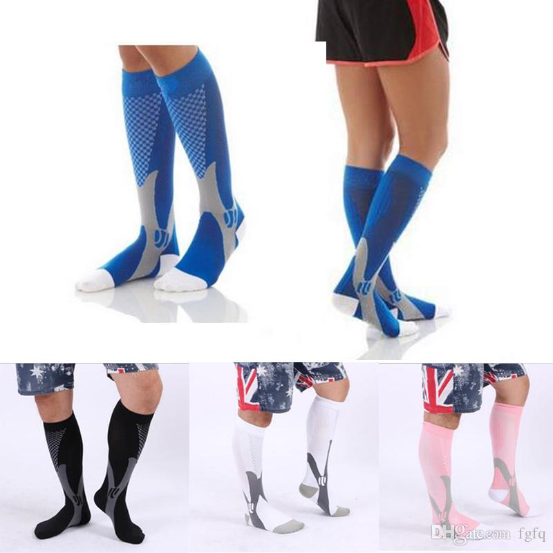 (3 Size / 5 Color) Unisex Leg Support Stretch Compression Socks - Active School Team Socks - Outdoor Sports Cycling Socks Stocking