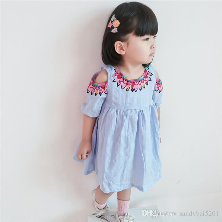 2017 Baby Girls Summer Dress 2017 Spring Kids Girls Floral Print ...