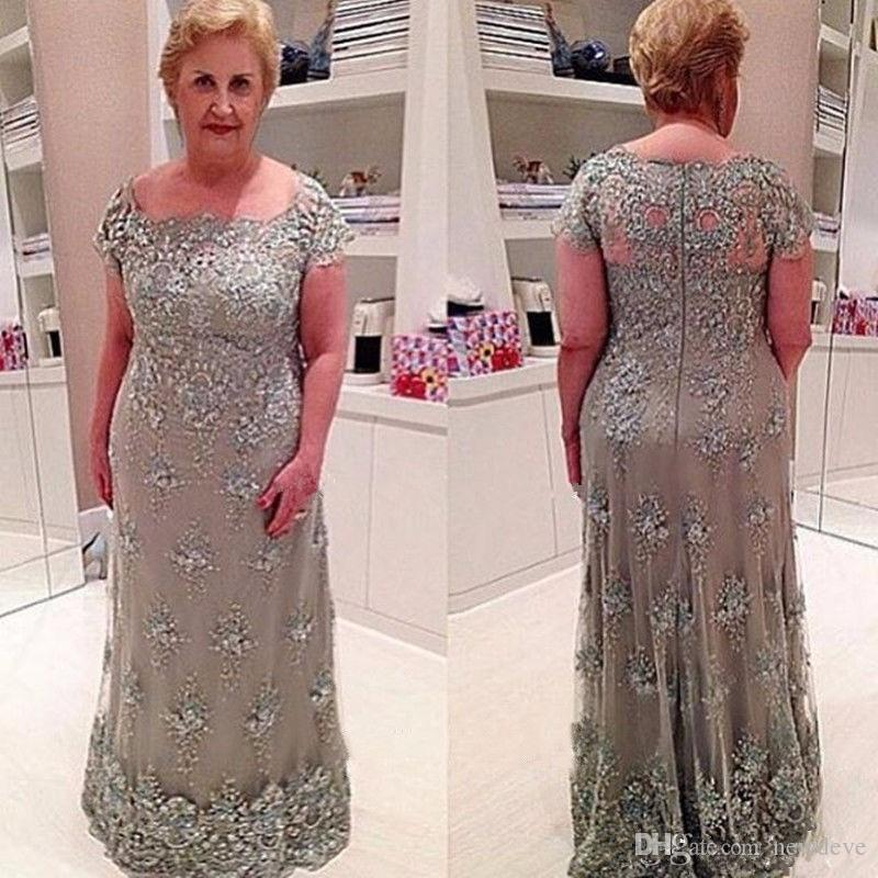 2017 Elegant Plus Size Mother Of The Bride Dresses Lace Applique Mother  Groom Dress Vintage Evening Guest Gowns For Weddings Dresses For The Mother  Of ...