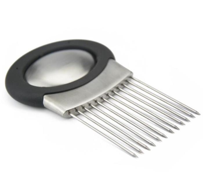 Inserto de cebolla de acero inoxidable, gadget de cocina de inserción de acero inoxidable gadget de cocina de acero inoxidable