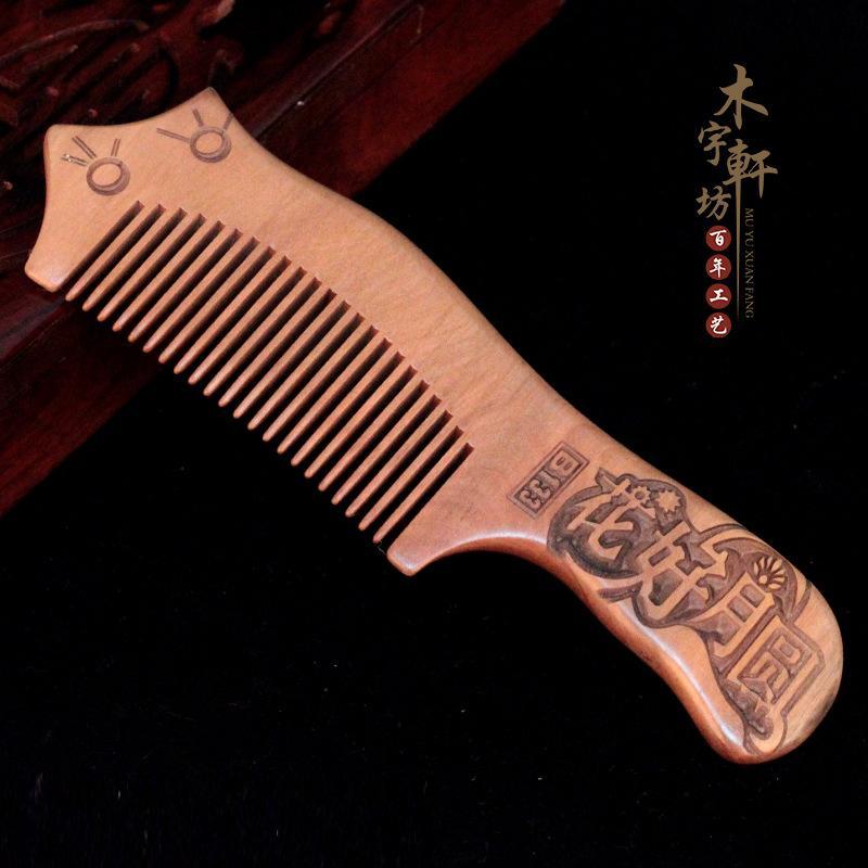 Производители Оптовая бутик утолщение старый красное дерево резные расчески здравоохранения массаж антистатические деревянные расчески гребень волос