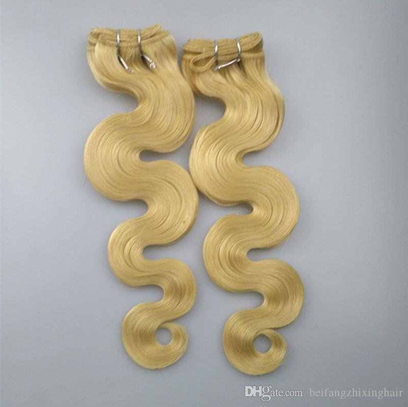 Burgund Brasilianische Körperwelle 3 Stücke Burgund Brasilianische Haarwebart Bundles Blonde Farbe 613 Menschliches Haar Brasilianische Reine Haarkörperwelle