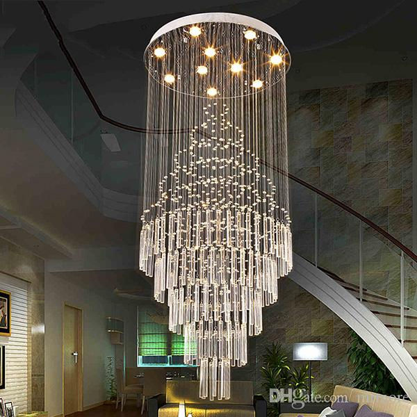 LED Kolye Işık Sanat Tasarım Oturma Odası Yemek Odası Avizeler Işık K9 Kristal Armatürleri AC110-240V Kristal Tavan Lambaları VALLKIN Aydınlatma