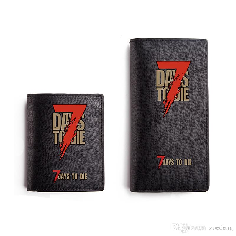 Game 7 Days to Die Wallet for Teenage Boys Cool Man Long PU Purse Black Carteira High End Wallet Gift