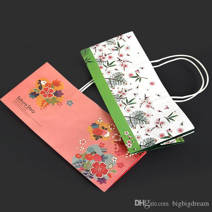 300pcs 29x11.5x13cm цветы жилет ручки печенье упаковка бумажные мешки подарок сумки супермаркет продуктовые торты хозяйственная сумка