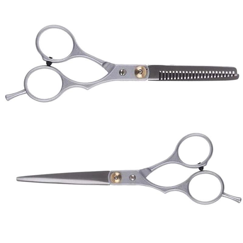 Atacado-profissional de cabeleireiro tesoura set 6 polegadas corte de salão de beleza de desbaste cabelo tesouras barbearia ferramentas de estilo de cabelo