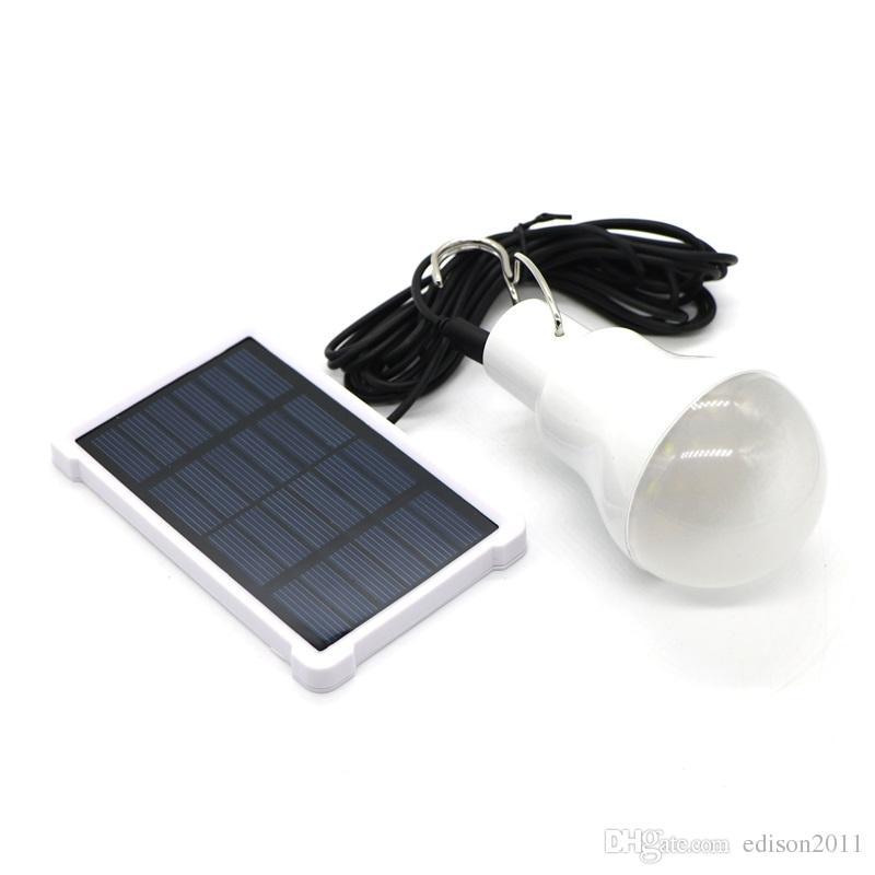 Edison2011 140LM Солнечная Лампа Портативный Солнечные Панели Лампы Светодиодные Лампы Открытый Сад Солнечный Свет светодиодное Освещение для Лагеря Ночного Путешествия Используется
