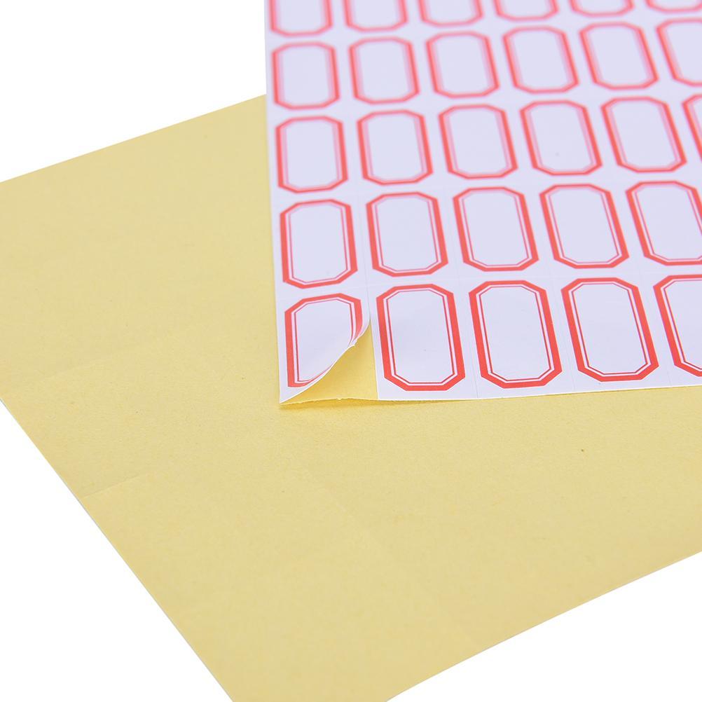 Acheter 60 Feuilles étiquettes étiquettes Inventaire étiquettes Notes Journal étiquette Vierge Blanc Auto Adhésif Prix Scrapbooking Autocollant De