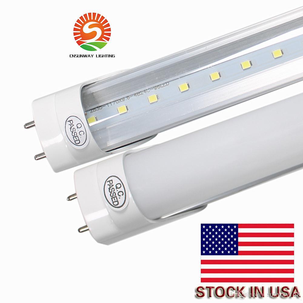 Lager in San Francisco / Ontario / New Jersey T8 4FT / .2M G13 18 20 22 Watt super helle SMD2835 LED-Tube AC85-265V