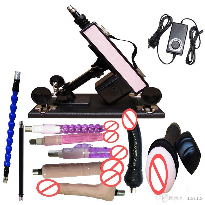 Luxury Automatic Sex Machine Gun Set with 9 attachments for Men and Women LOVE Machine with Male Masturbation Cup and Big Dildo